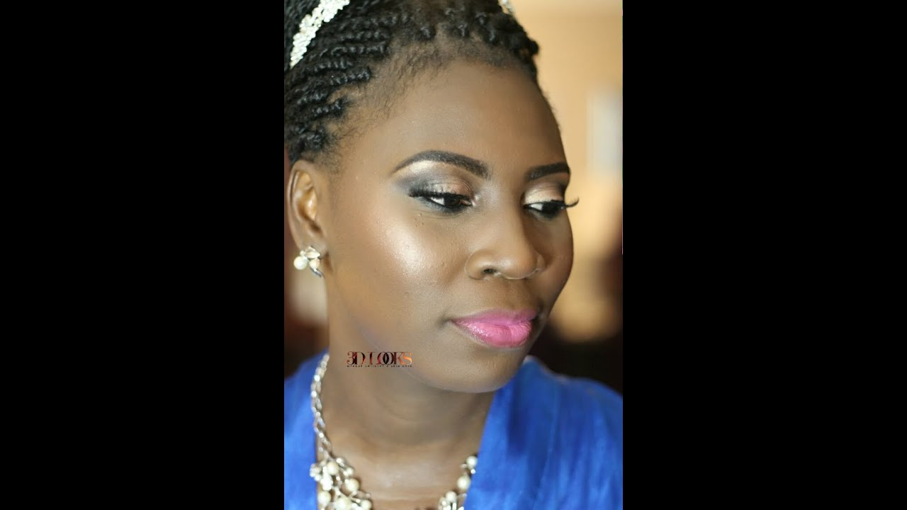 Bridal Makeover Nigerian African Bride. Highlight And