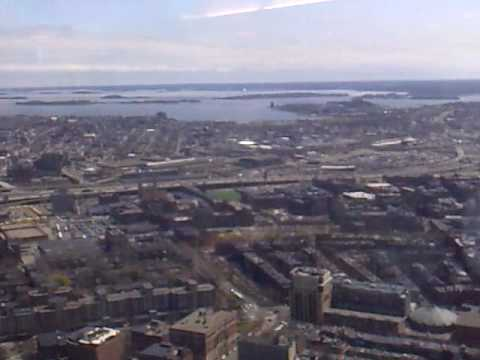 View from the John Hancock Tower in Boston