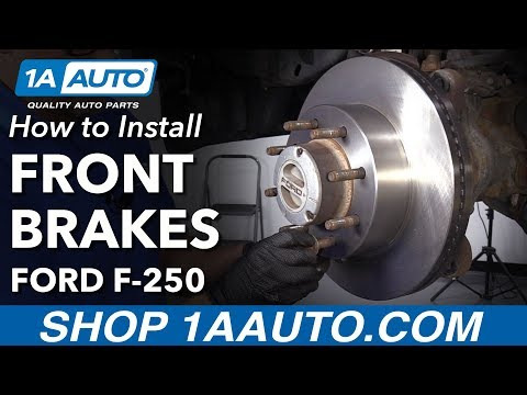 How to Replace Front Brakes 13-16 Ford F250