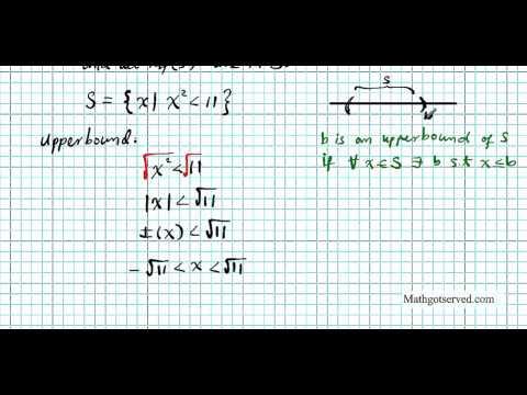 supremum infimum part I Real Analysis Mathematics