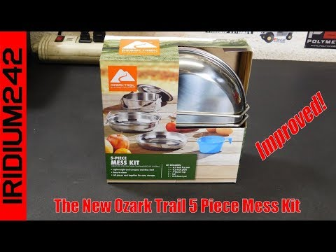 The New Stainless Steel Ozark Trail 5 Piece Mess Kit