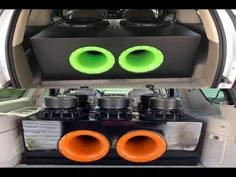 2 Deaf Bonce 18's VS 6 DC Audio 12's | Head to Head Showdown!