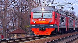 Railway. Airport Express EMU Train ED9M-0267 / Из аэропорта во Владивосток. ЭД9М-0267