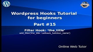 Wordpress Hooks Tutorial for beginners from scratch #15 Filter hook