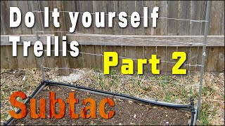 Do It Yourself Building A Trellis Part 2 | Gardening