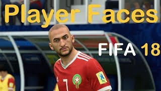 FIFA 18 Player Faces Morocco