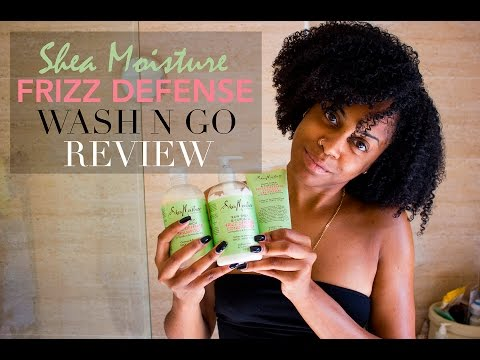 WASH N GO | NATURAL HAIR | SHEA MOISTURE FRIZZ DEFENSE REVIEW