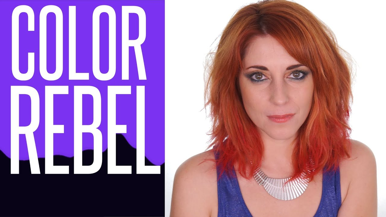 coloration temporaire avec les color rebel look tie and dye - Coloration Redken