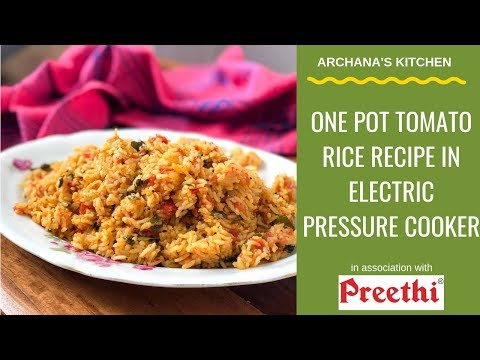 tomato-rice-recipe-electric-pressure-cooker---south-indian-recipes-by-archana's-kitchen