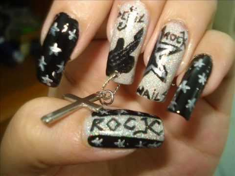 Rock Star Nails Inspired Nail Art Tutorial By Pinkpuff Prince