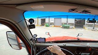 I backed my semi truck into a dock.  Trucking Life.