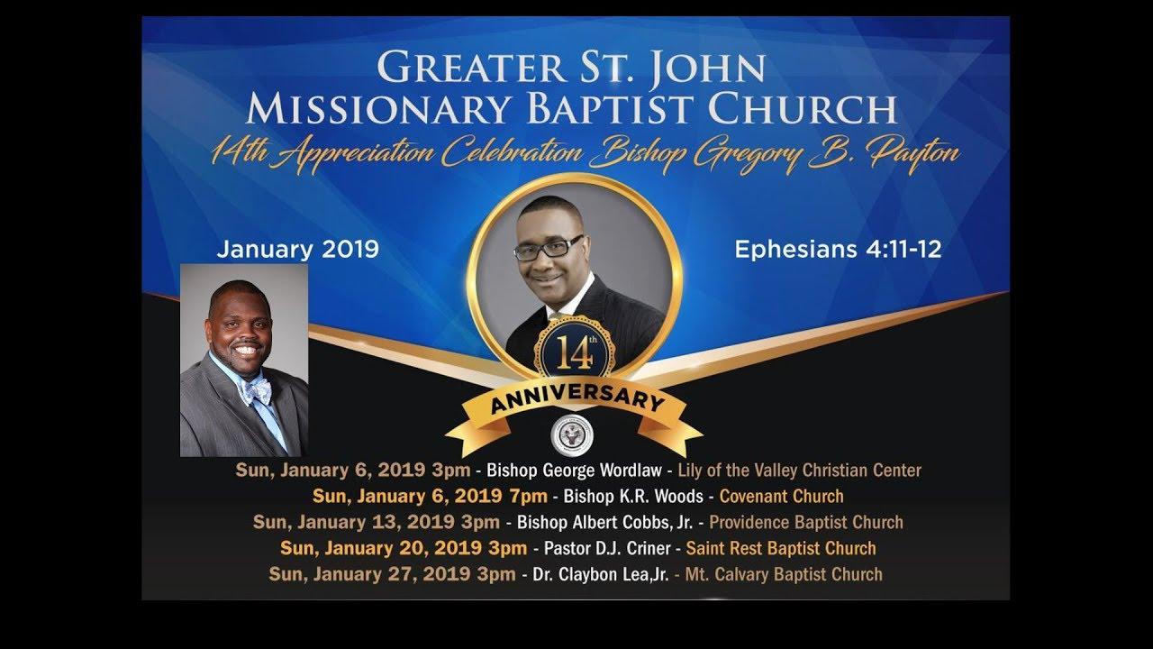 Greater St  John Missionary Baptist Church Oakland, Pastor D J  Criner
