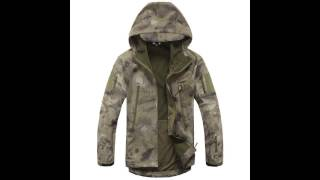 TAD Shark Skin Camouflage Outdoors Military Jacket Men Waterproof Tactical Softshell