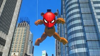 ANIMATRONICS WITH SPIDERMAN POWERS! (GTA FNAF Mods Funny Moments)
