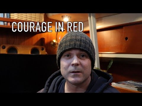 Life is Like Sailing - Courage in Red
