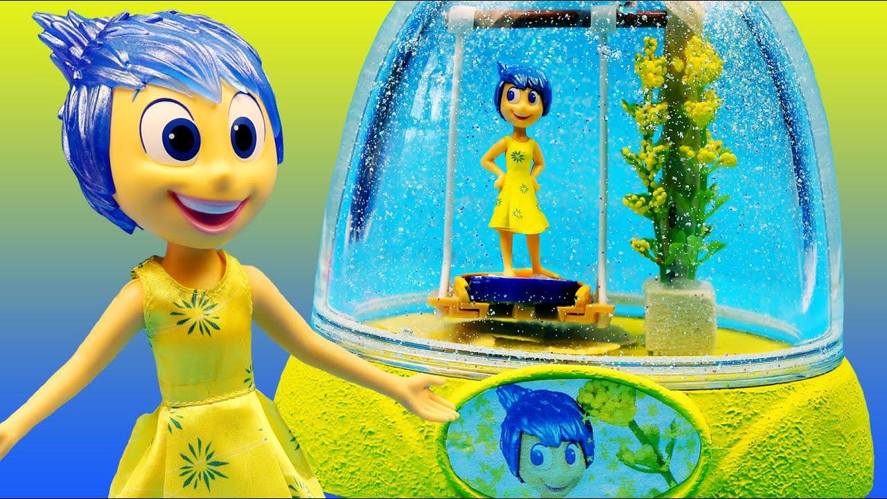 Inside Out Joy Glitter Globes Happy Swing Disney Toys How