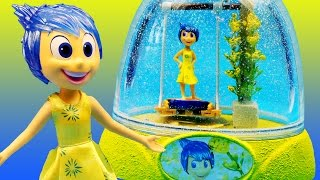 INSIDE OUT JOY GLITTER GLOBES Happy Swing Disney Toys How to Make Your Own