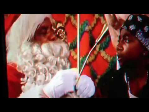 When kids in th ghetto visit Santa Claus.