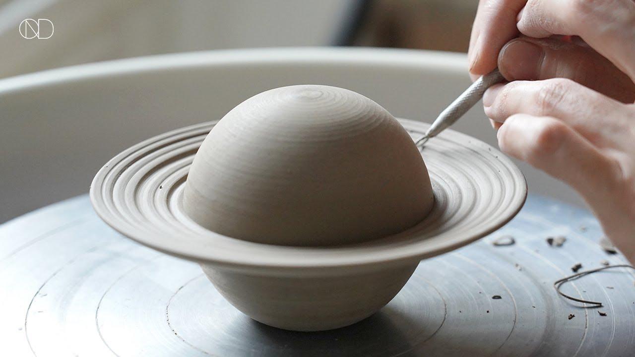물레로 만드는 행성 모양의 합 : How make a ceramic planet [ONDO STUDIO]