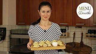 Pierogi z białą kiełbasą i kiszoną kapustą. Idealne danie na stół wielkanocny. MENU Dorotki.