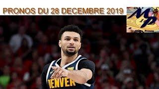 PRONOS NBA DU 29 DECEMBRE 2019 !!!! PARIS SPORTIFS !!!!
