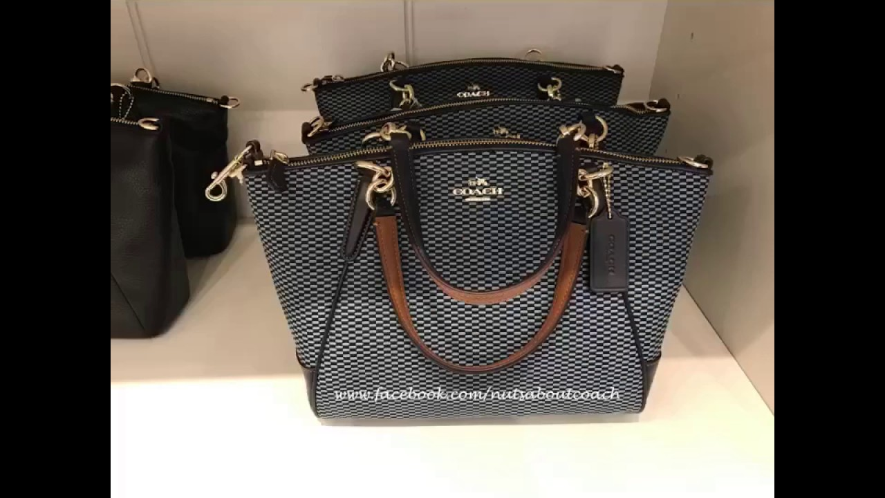 9a464af27eae Coach 57244 Small Kelsey Exploded Reps Print Jacquard Satchel CROSSBODY -MIDNIGHT
