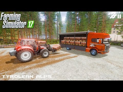 Selling wood chips pallets | Tyrolean Alps | Farming Simulator 2017 | Episode 11 thumbnail
