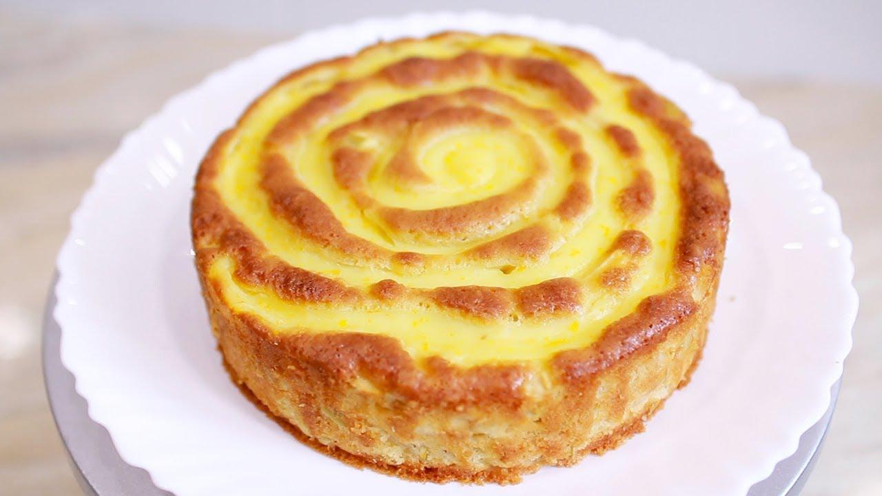 Лучше торта! Яблочный пирог с кремом.