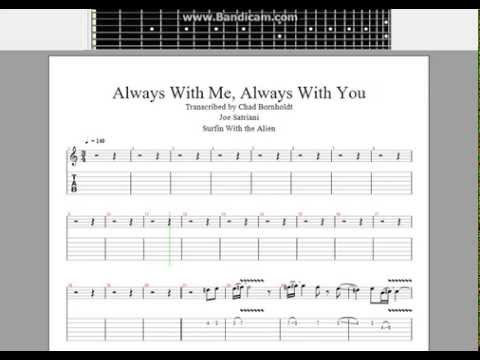 Always With Me Always With You Joe Satriani Full Guitar Tab Youtube