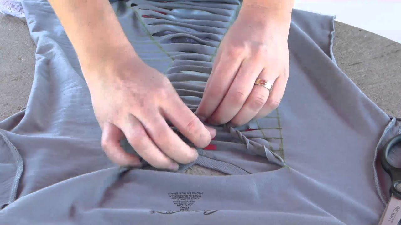 How to cut a T-Shirt with a different style - YouTube