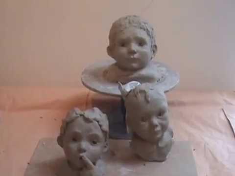 modelage d 39 un visage en argile version acc l r youtube