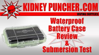 waterproof battery case review submersion test