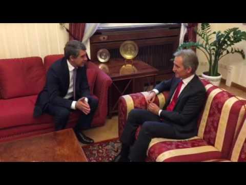 Iurie Leanca intalnire cu Presedintele Bulgariei, Rosen Plevneliev