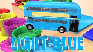 Kids leaning colors with School Buses & Cars Train Toys   Fun Jump Street Vehicles for