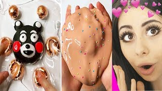 Oddly SATISFYING Video Compilation - ASMR , Slime Pressing and more!