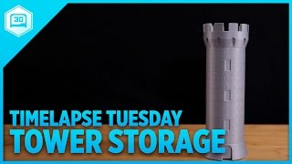 Castle Storage Tower - Timelapse Tuesday #3DPrinting