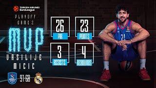 Playoff 2. Maç / Anadolu Efes - Real Madrid / Vasilije Micic