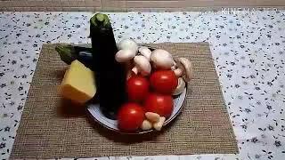 П.п рецепт . Баклажаны в духовке с помидорами , сыром и грибами