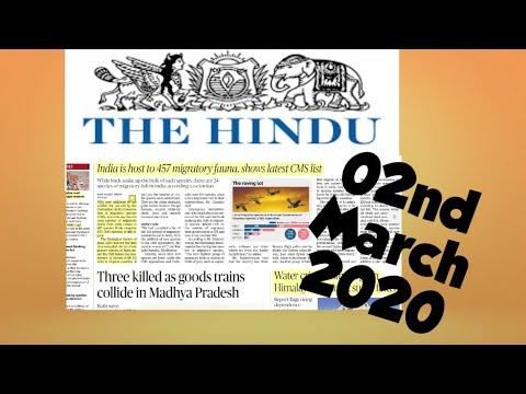 The Hindu Newspaper 02nd March 2020