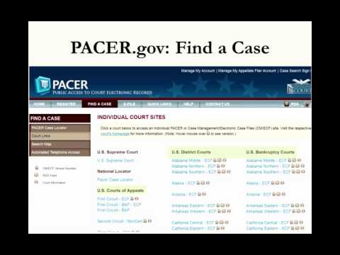 Order in the Court Records: Finding Briefs, Transcripts, and other Court Materials