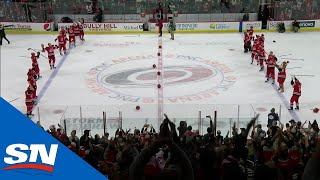 Carolina Hurricanes Hold Game Of Dodgeball During Storm Surge