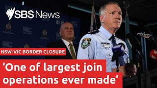 650 NSW police to lock down NSW-Vic border I SBS News