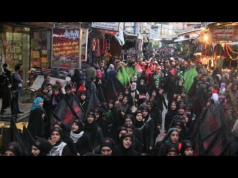 شاهد شوارع دمشق خليط من لطميات كربلاء ومهرجانات مؤيدي النظام