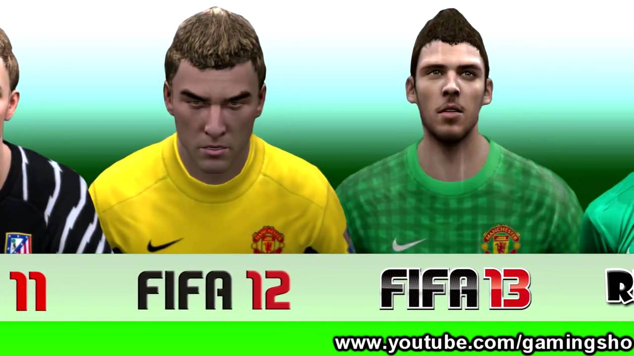 david de gea from fifa 10 to 13 youtube. Black Bedroom Furniture Sets. Home Design Ideas