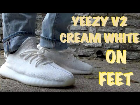 newest collection 3262f 4eb91 Adidas YEEZY 350 V2 (CREAM WHITE/TRIPLE WHITE) REVIEW | ON FEET | STOCKX  REVIEW