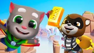 ГОВОРЯЩИЙ ТОМ БЕГ ЗА ЗОЛОТОМ #49 мультик игра для детей КОТ ТОМ и КОШКА АНДЖЕЛА друзья