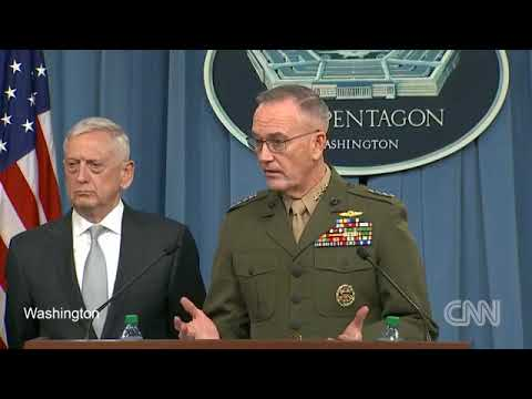 14/04/2018 Pentagon briefing on U.S. strikes in Syria