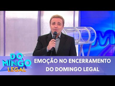 Celso Portiolli presta homenagem emocionante a Gugu | Domingo Legal (24/11/19)
