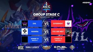 MEC Europe | Group Stage C |  Top 1 Global Squads Mobile Legends Tournament