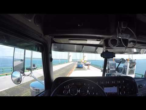 2018 389 Peterbilt crossing the Mackinac Bridge (vlog #28)
